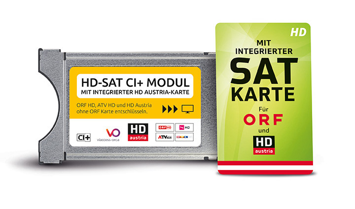 orf entschlüsseln ohne karte HD SAT CI+ Modul mit integrierter HD Austria Karte